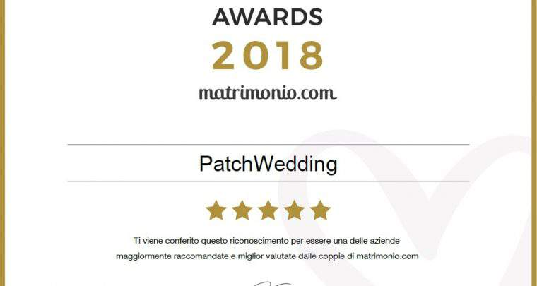 Patch Wedding premiato dai WEDDING AWARDS 2018